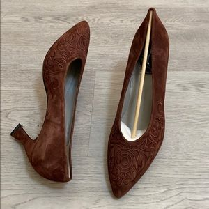 Vintage Sergio Zelcer Shoes Suede Leather 10
